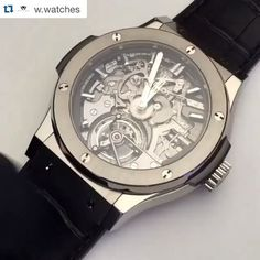 """#Repost Alert @w.watches ・・・ True amazing piece via @equationdutemps. The Hublot Classic Fusion Tourbillon minute-repeater cathedrale in titanium. Turn up the volume and listen to the notes played by the hammers! #likes #likebackteam #likeforlike #likeback #likes #watchporn #horology #hublotwatch #hublot"" Photo taken by @millionaireshoppinggroup on Instagram, pinned via the InstaPin iOS App! http://www.instapinapp.com (11/03/2015)"