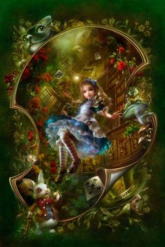 "Alice Fairy Tale;--we just worked 1000 'MasterPieces' 19""x26""in. puzzle, found it at Books-A-Million, it came in a 'book' box:) I still have it out..thinking about placing it under the glass on the table.>:K.A.H."