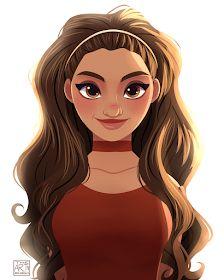 Modern Moana by Archibald Art. Disney And More, Disney Love, Disney Magic, Disney E Dreamworks, Disney Pixar, Disney Characters, Moana Disney, Modern Princess, Princess Art