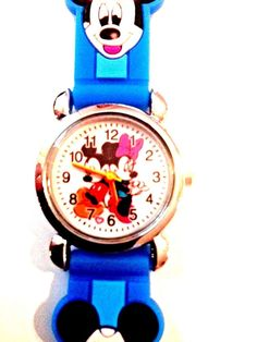 New Lt Blue Mickey Mouse Minnie Mouse Boys/ Girls Watch 3-D  | eBay
