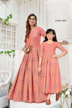 Order #Shaheen Long GOWN mom₹1250 Daughter₹1200 on WhatsApp number +919619659727 or ArtistryC.in Kids Gown, Girls Wear, Lehenga Choli, Boy Or Girl, Daughter, Gowns, Number, Mom, How To Wear