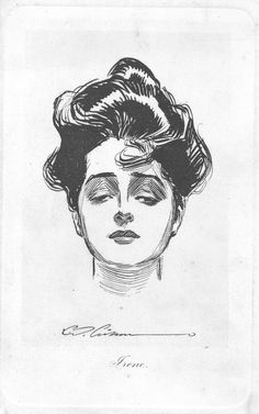 """Evelyn Nesbit - model for """"the gibson girl"""" by Charles Dana Gibson"""