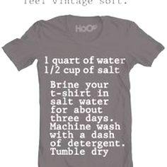 How to make tshirts feel vintage soft