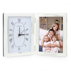 Silver Clock & 6x4 Photoframe | Photo Frames | Exclusively Personal