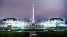 Schlossplatz, Stuttgart, Germany at Night