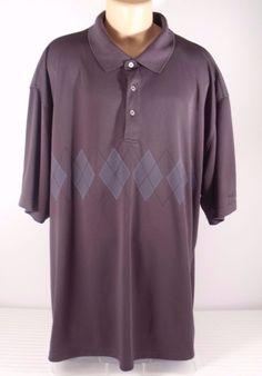 Mens Top Flite Golf Polo Dark Gray Shirt Size 4XL #TopFlite #PoloRugby