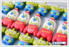 Toy Story Aliens & Rockets~ Unknown source, red, blue, green