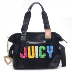 Juicy Couture Outlet Bags Studs Shoulder In Black