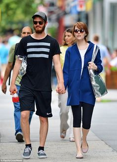 Andrew Garfield and Emma Stone - In West Village in New York.  (July 2014)