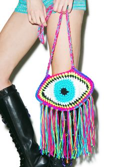 Third Eye Fringe Bag   Dolls Kill