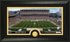 Pittsburgh Steelers Stadium Bronze Medallion Coin Panoramic Photo Mint