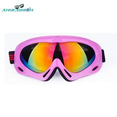 Anyfashion women ski goggles Colorful UV400 anti-fog skiing glasses  men snowboard Snow Eyewear snowmobile goggles