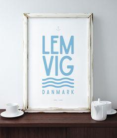 Lemvig, Damnark, poster, nordic, scandinavian, design www.hjemhavn.dk