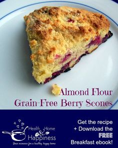 Grain Free Berry Scones made with Almond Flour | Health, Home, & Happiness