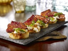 Little Italy Favorites: Winter Features | Candies Bacon & Ricotta Bruschetta Available January 29-March 25, 2015