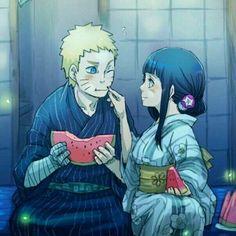 Naruto e Hinata (NaruHina) Naruto Shippuden, Naruto E Boruto, Hinata Hyuga, Sasuke, Anime Naruto, Manga Anime, Naruto Fan Art, Naruhina, Shikatema