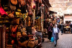 In the souk of the medina, one of the oldest and largest such markets in the world. Credit Daniel Rodrigues for The New York Times