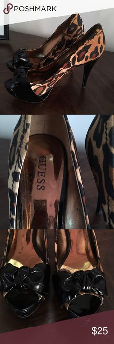 Guess Peep Toe Pumps💕 Sexy Leopard Print Peep Toe Pumps🔥🔥🔥 Guess Shoes Heels