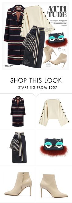 """""""ATTITUDE"""" by paint-it-black ❤ liked on Polyvore featuring Petar Petrov, palmer//harding, Fendi, stripesonstripes and PatternChallenge"""