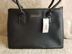 ece990b4b6 Kenneth Cole Reaction Womens Annemarie Satchel Black Handbag Medium   KennethColeReaction  Satchel Ecommerce Shop