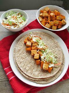 Easy BBQ Tofu & Sweet Potato Wraps