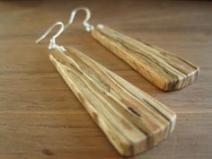 Wood earrings! Love them!