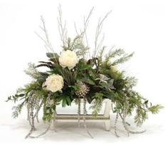 Holiday Decorations Chrsitmas Holiday Floral Arrangements 2019 Holiday Decorations Chrsitmas Holiday Floral Arrangements The post Holiday Decorations Chrsitmas Holiday Floral Arrangements 2019 appeared first on Floral Decor. Christmas Swags, Christmas Flowers, Winter Flowers, Noel Christmas, Modern Christmas, Christmas Candles, Scandinavian Christmas, White Christmas, Silk Flowers