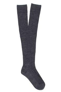 Women Superwash Fine Merino Wool Rib Knee High Sock