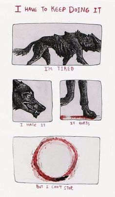 obsessive compulsive by Canis-Infernalis on DeviantArt Character Art, Character Design, Vent Art, Arte Obscura, Sad Art, Werewolf, Aesthetic Art, Drawing Reference, Art Sketches