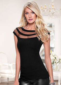 %PC% Sheere detail neckline top from VENUS