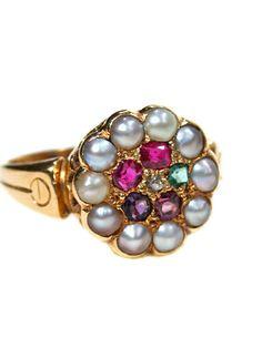 Original and True Sentiment: Victorian Regard Ring