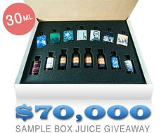 Win a Free Sample Box of E-Liquid - $350 Value! Enter to win 1 of 200 sample box of E-Liquids from The Standard, Jackson Vapor Co. and Blueprint Vapor! Bottles are full size 30ml, and you choose your strength. Unlimited number of entries, contest ends soon!