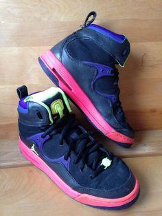 Nike Air Jordan TR 97 Black Pink Purple High Top Sneakers Youth Shoe Size 5  Y