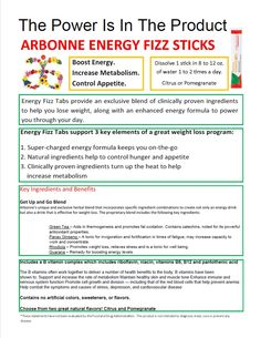 Arbonne Energy Fizz Stick - boost metabolism and energy. safe for kids. more electrolytes than sports drinks without the added sugar and colors!