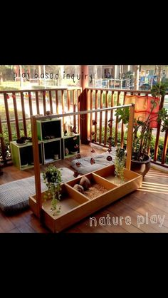 Nature play from Play Based Inquiry. maybe in the Ruru room? Natural Play Spaces, Outdoor Play Spaces, Outdoor Areas, Outdoor Fun, Outdoor School, Childcare Environments, Learning Environments, Reggio Classroom, Outdoor Classroom