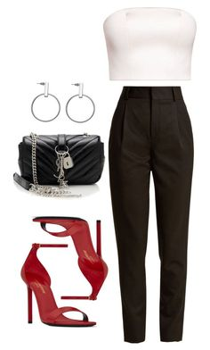 """""""Untitled #5671"""" by lilaclynn ❤ liked on Polyvore featuring Yves Saint Laurent, YSL, saintlaurent and yvessaintlaurent"""