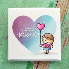 Pretty Pink Posh Friends Forever Card with Masked Ink Blending + Zig Clean Color Markers – kwernerdesign blog