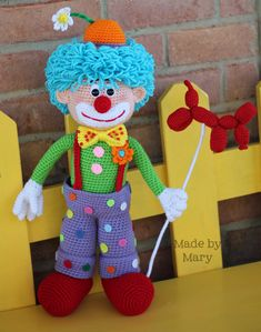 PDF Pattern: Arlo the Clown **Crochet Pattern Only, Not Actual Doll!!**