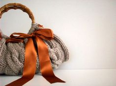 Knit hand bag fall autumn  winter fashion women by NzLbags on Etsy, $65.00