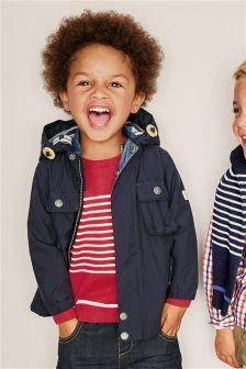 Next Navy Four Pocket Jacket (3mths-6yrs) £27