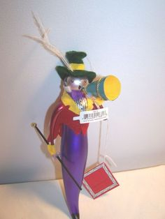 NOS Dept 56 Beaux Arts Circus Ring Master Figural Ornament In Original Box