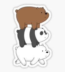 """""""We Bare Bears - Bear Stack"""" Stickers by rustybeef Cute Laptop Stickers, Bubble Stickers, Diy Stickers, Printable Stickers, Bear Wallpaper, Cartoon Wallpaper, Corgi Drawing, Arte Dope, Diy Gifts To Sell"""