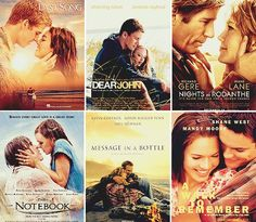 Nicholas Sparks movies.. Need to add The Lucky One