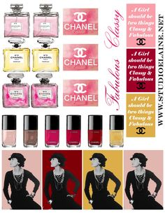 March - Coco Chanel Free Sticker Sheet