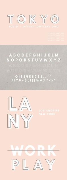 graphic design inspiration / fonts / modern / sans serif / pink / typography via @4vector