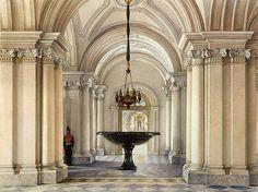 Konstantin Andreyevich Ukhtomsky Interiors of the Winter Palace. The Main Vestibule