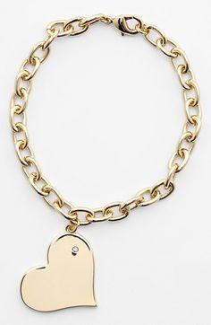 heart charm bracelet - cute!! $38