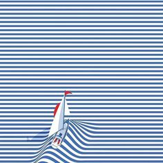 Image result for Blue and White Stripes by @lacomedi