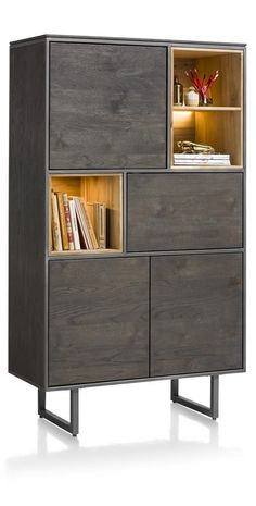 Cupboard Moniz - Home creative ideas Cabinet Furniture, Metal Furniture, Cabinet Inspiration, Small Space Storage, Round Coffee Table, Loft, Credenza, Cupboard, Small Spaces