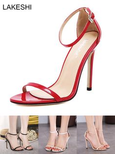 [Visit to Buy] LAKESHI Women Sandals High Heels Shoes Summer Women Sexy Ankle Wrap Sandals Fashion Ladies Shoes #Advertisement